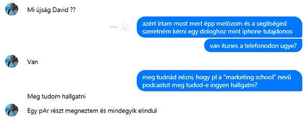 Zsófi tud podcastot hallgatni iTuneson keresztül ezáltal gazdasági angol tudását gyakorolni