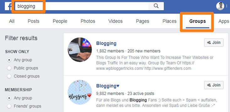 facebook szakmai csoport keresése üzleti angol tanuláshoz