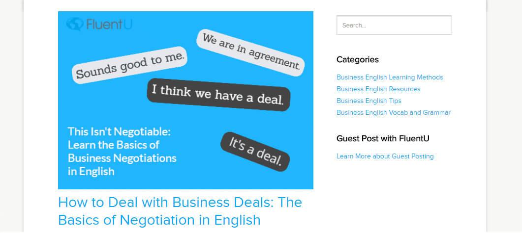 fluentu üzleti angol blog
