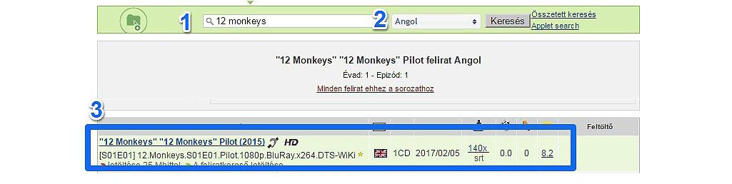 open subtitles-ról letölteni feliratot angol sorozatokhoz