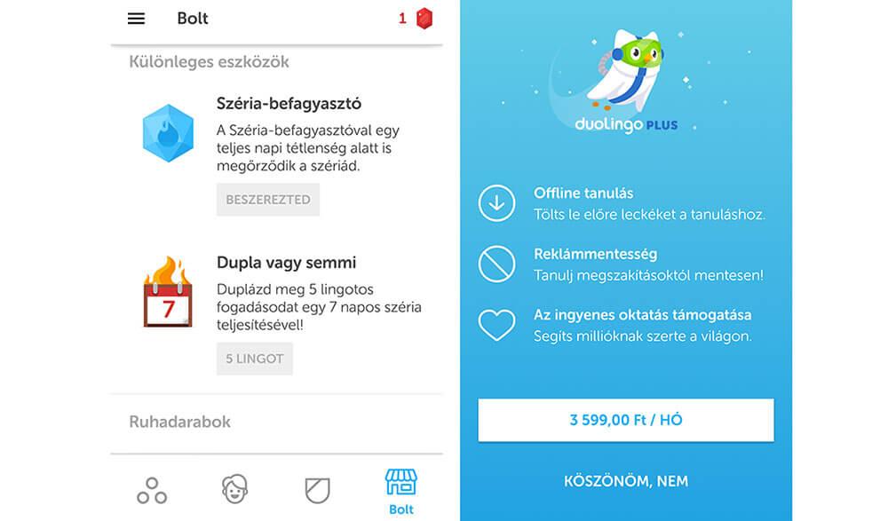 angol tanulás app duolingo bolt és fizetős verzió nyelvtanuló app cikk