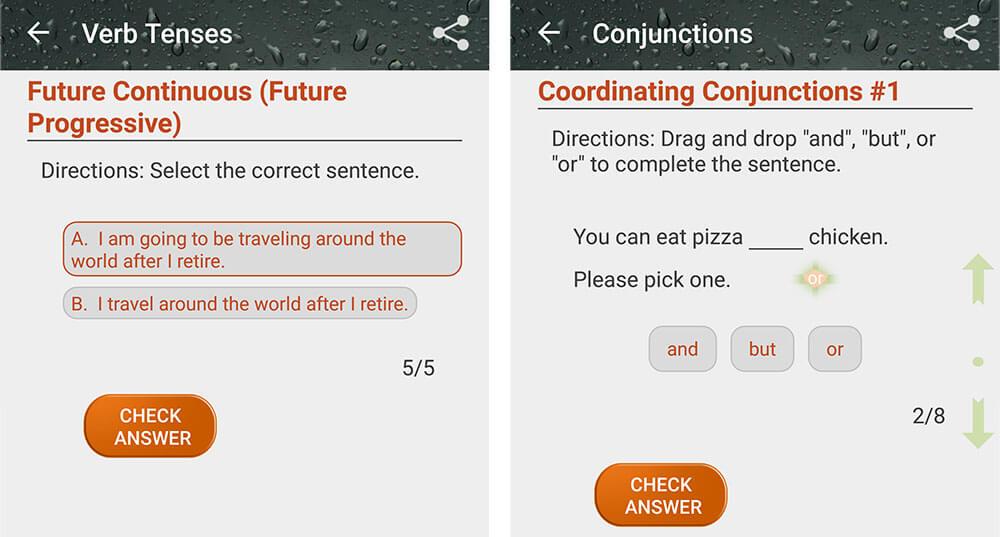 english grammar book angol nyelvtan app feladatok