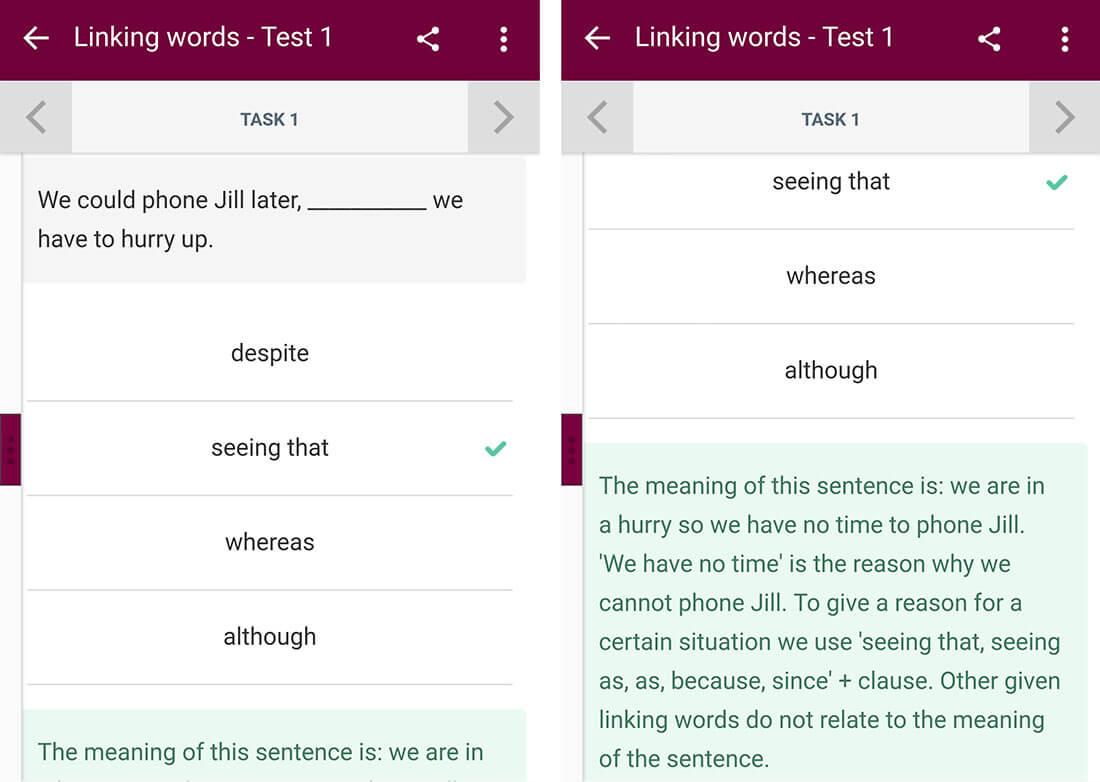 english grammar test angol nyelvtan app nyelvtanuló app feladat magyarázatok cikk