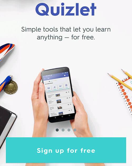 quizlet-angol-szótanuló-szókincsfejlesztő-app