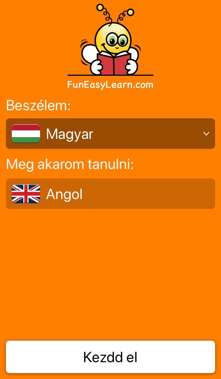 Angol szókincsfejlesztő app témakörök