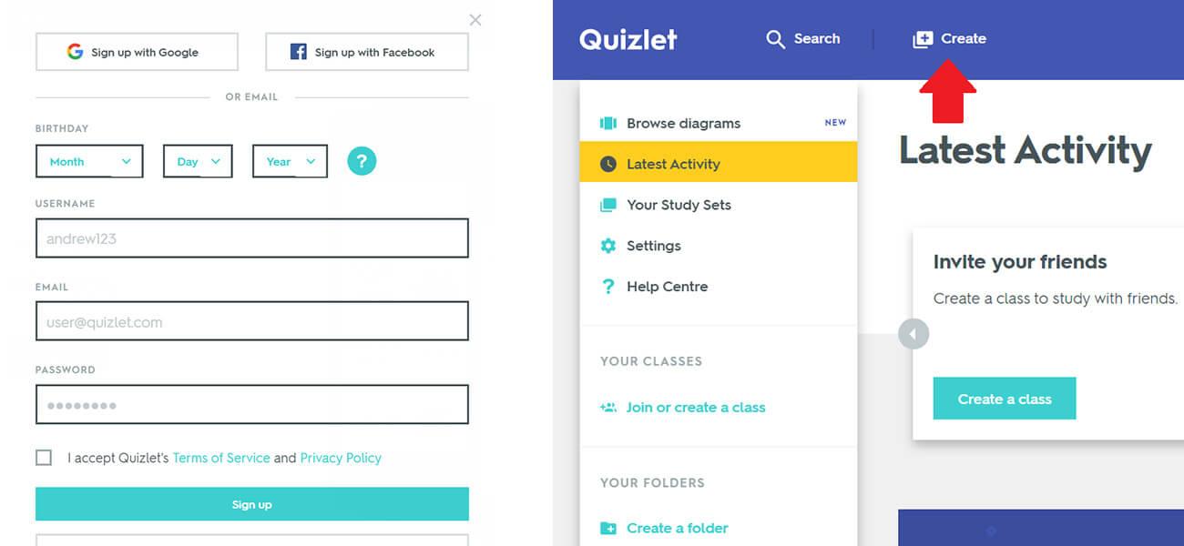 Quizlet angol szókincsfejlesztő alkalmazás