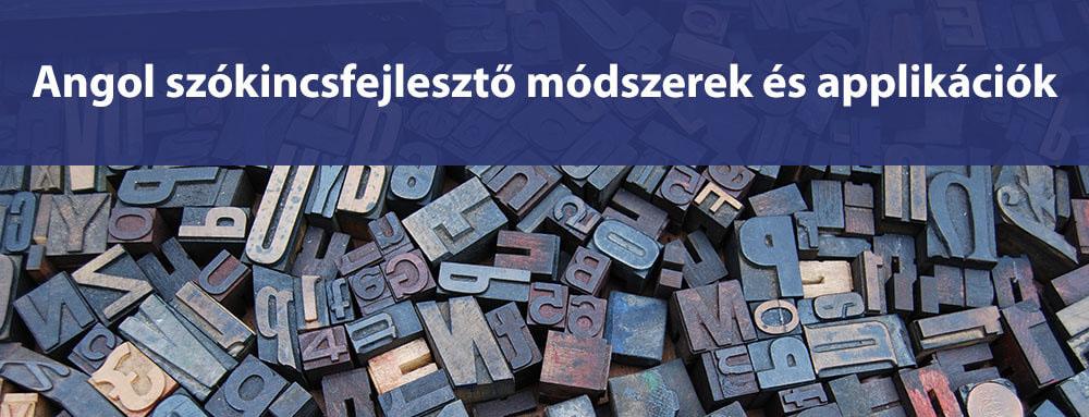 Angol Szókincsfejlesztő módszerek és applikációk