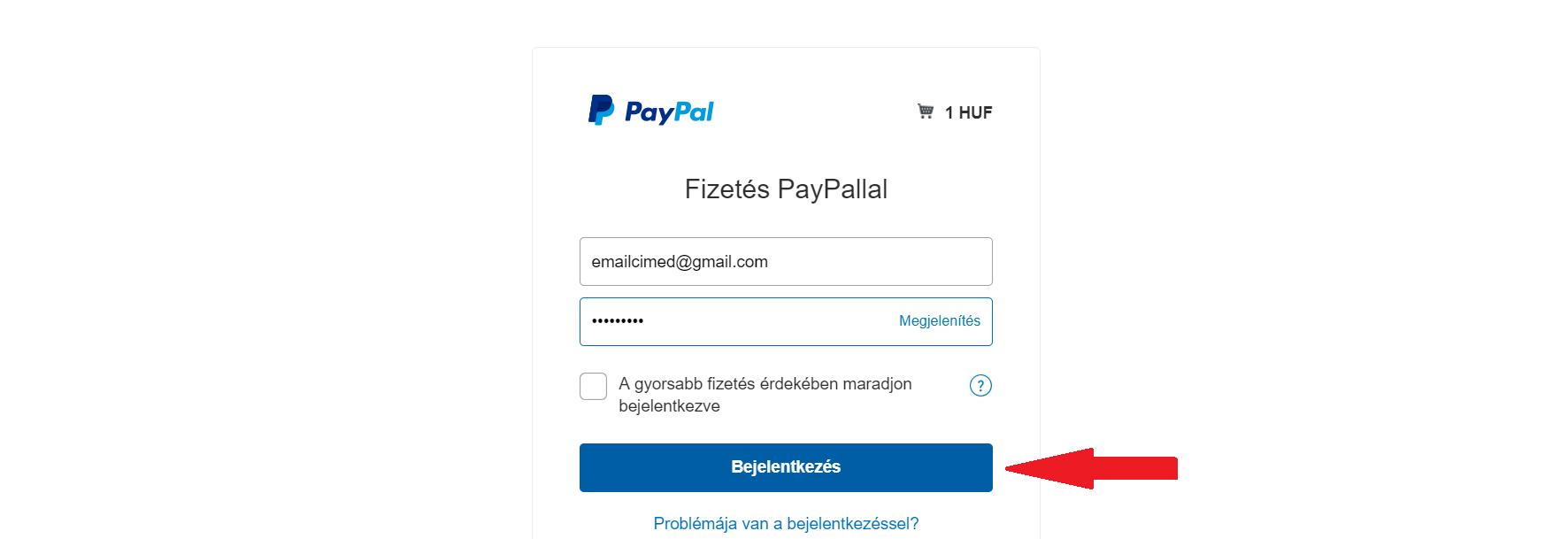 Paypal számla létrehozása második lépés