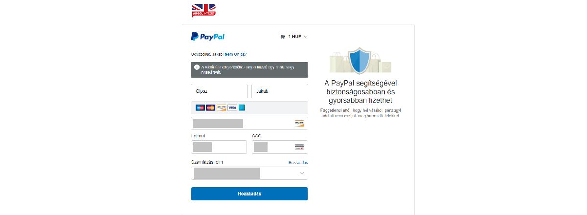 paypal kártya létrehozása